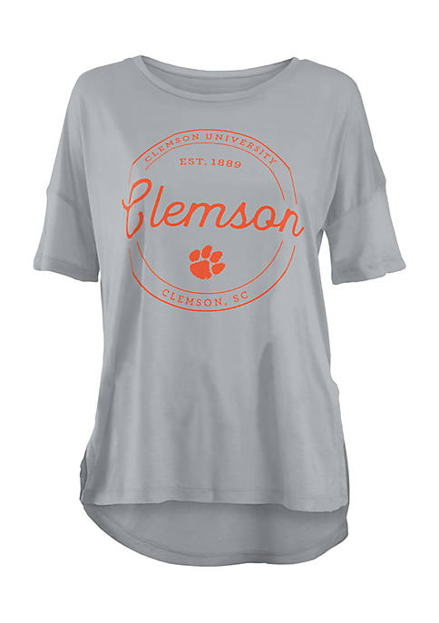 ROYCE Short Sleeve Clemson Tigers Ella Seal Modal