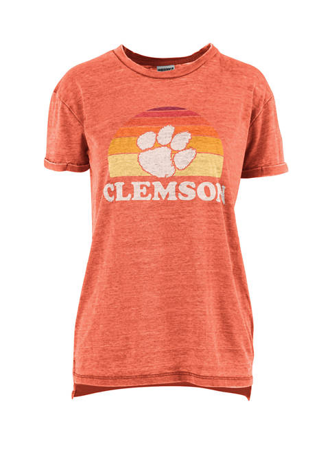 Pressbox NCAA Clemson Tigers Short Sleeve Vintage Vaporwave