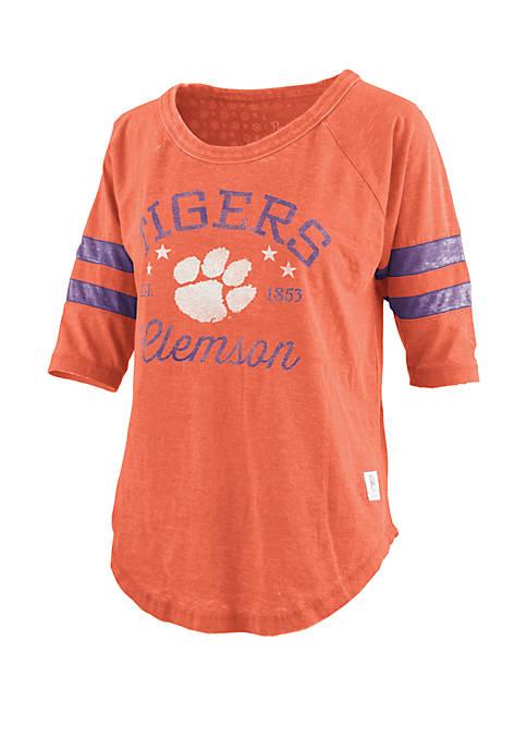 ROYCE Clemson Tigers Vintage Wash Jersey Short Sleeve