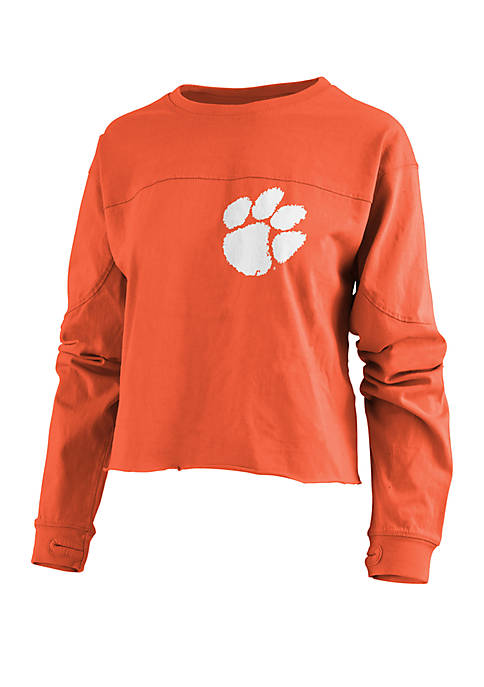 Pressbox Clemson Tigers Fight Song Cropped T Shirt