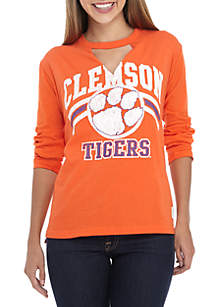 Clemson Tigers Crew Neck Choker Long Sleeve Tee