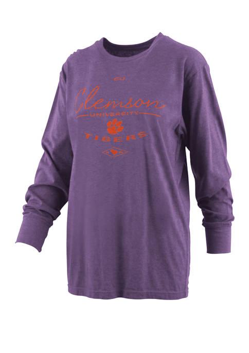 Pressbox Womens NCAA Clemson Tigers Farrah Melange T-Shirt