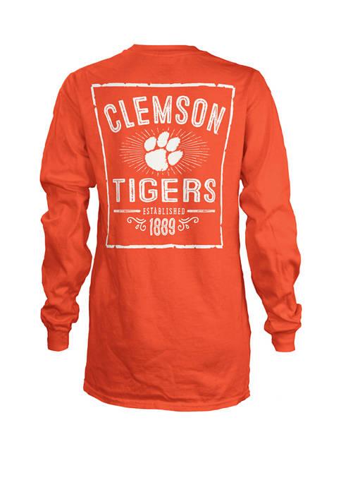 Womens NCAA Clemson Tigers Daisy Jersey T-Shirt