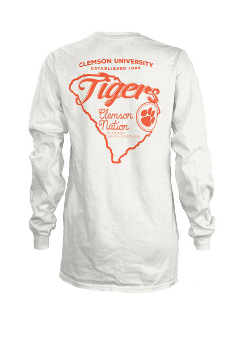 Pressbox Womens NCAA Clemson Tigers State Jersey T-Shirt