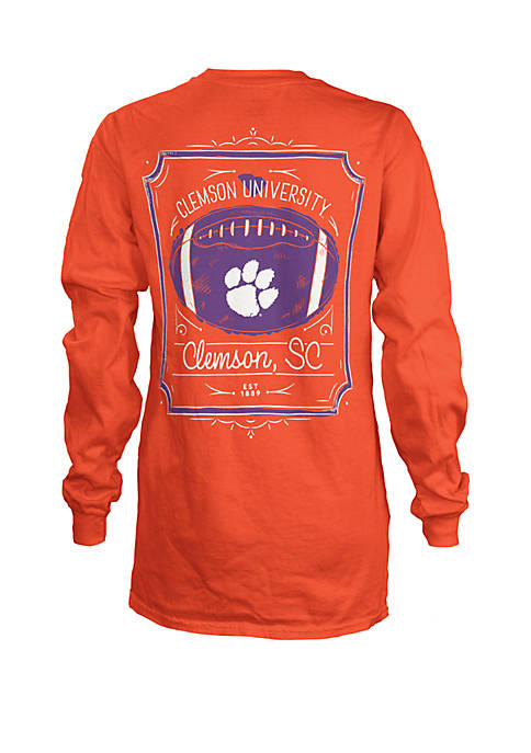ROYCE Clemson Tigers Framed Football T Shirt
