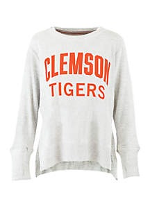 Clemson Tigers Chenille High Low Knit Pullover