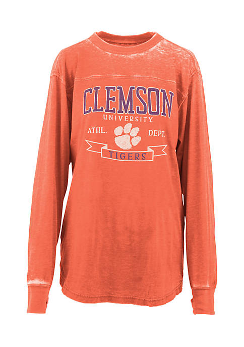 ROYCE Long Sleeve Clemson Debbie Piston Oversized Pieced