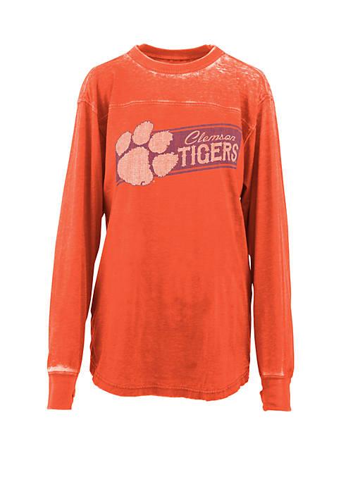 Pressbox Clemson Tigers Stripes Vintage Wash T Shirt