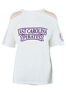 East Carolina Pirates Norris Cold Shoulder Tee