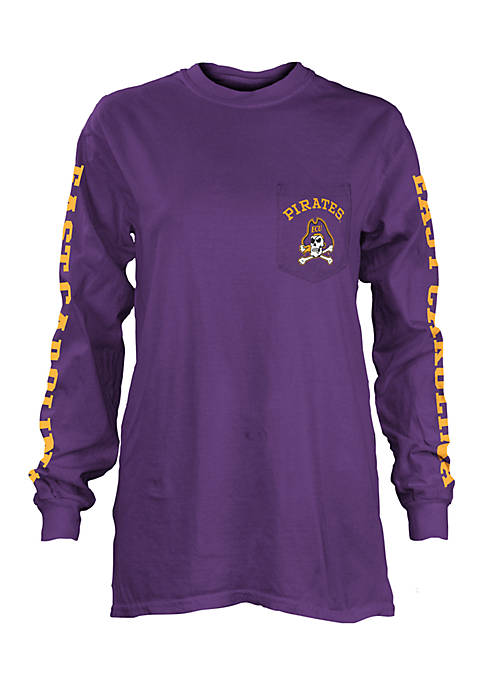 ROYCE Long Sleeve East Carolina University Mcpherson Crew