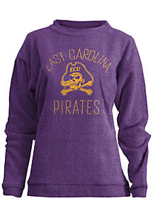 East Carolina Pirates Thin Arch Mock Neck Twisted Terry Fleece Pullover