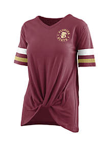 ded418568470c ... ROYCE Florida State Seminoles Twist Front Knot T Shirt