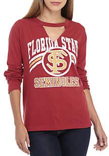 FSU Seminoles Crew Neck Choker Long Sleeve Tee