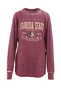 Long Sleeve Florida State Debbie Piston Oversized Pieced Tee