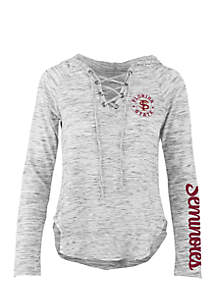 Long Sleeve Florida State Kate Lace Neck Hooded Tee