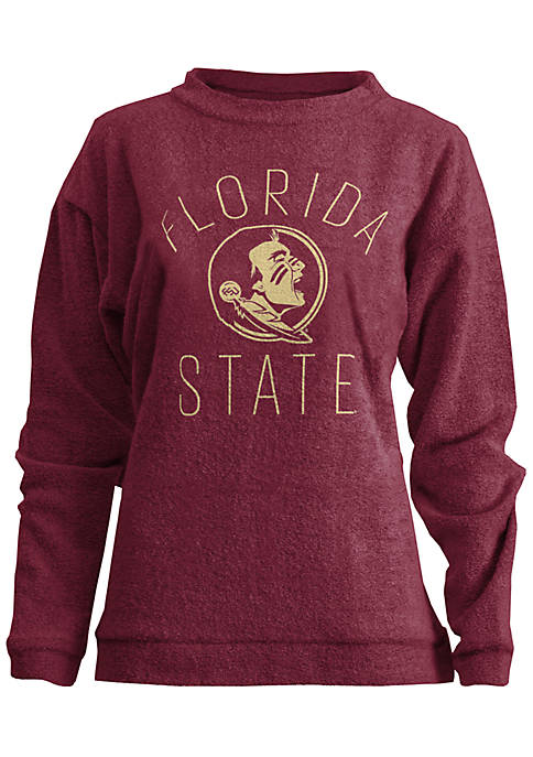 ROYCE Florida State Seminoles Thin Arch Mock Neck
