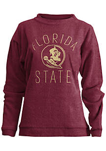 Florida State Seminoles Thin Arch Mock Neck Twisted Terry Fleece Pullover