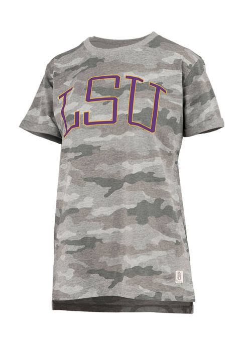 Pressbox Womens NCAA LSU Tigers Short Sleeve Camo