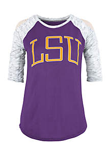 LSU Tigers Bella Lap Cold Shoulder Tee