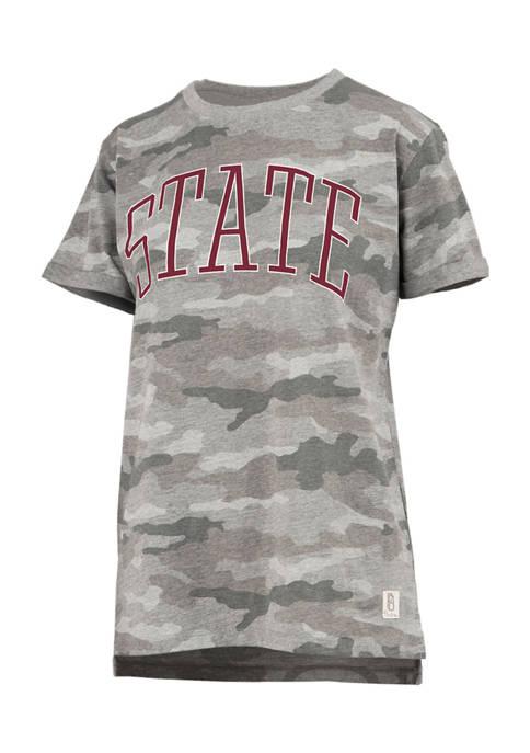 Womens NCAA Mississippi State Bulldogs Short Sleeve Camo T-Shirt