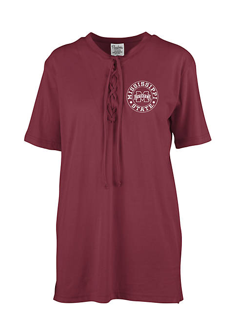 ROYCE Mississippi State Bulldogs Sherry Lace Up Tee