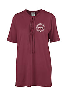 Mississippi State Bulldogs Sherry Lace Up Tee