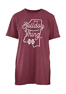 Short Sleeve Mississippi State Bulldogs Its A School Thing Crew Neck Tee