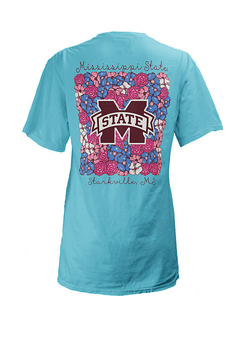 Mississippi State Bulldogs Floral Bunch Coastal T Shirt