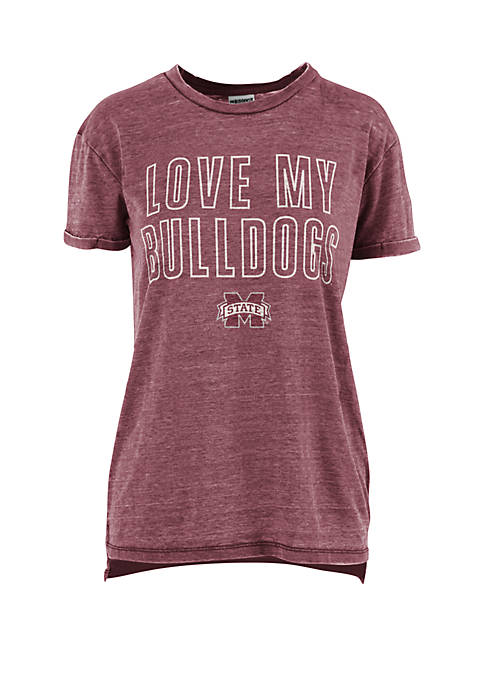ROYCE Mississippi State Bulldogs Love Lines Vintage Wash