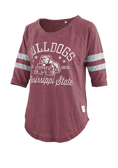 Mississippi State Bulldogs Jade Vintage Wash Jersey T Shirt