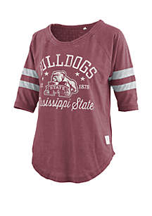 ROYCE Mississippi State Bulldogs Jade Vintage Wash Jersey T Shirt