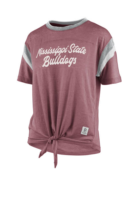 NCAA Mississippi State Bulldogs Vintage Tie Front Jersey T-Shirt