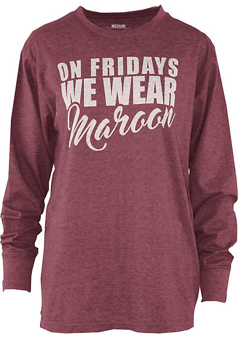 ROYCE Long Sleeve Mississippi State Saturday Colors Melange