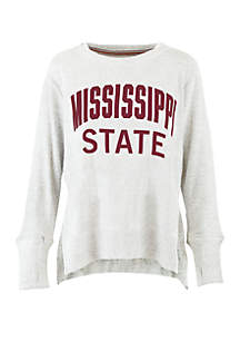 Mississippi State Bulldogs Chenille High Low Knit Pullover
