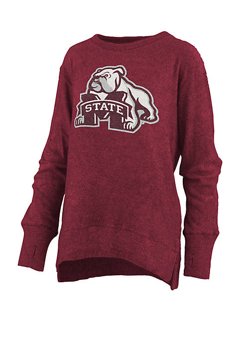 Womens NCAA Mississippi State Bulldogs Fresno Cuddle Knit Pullover