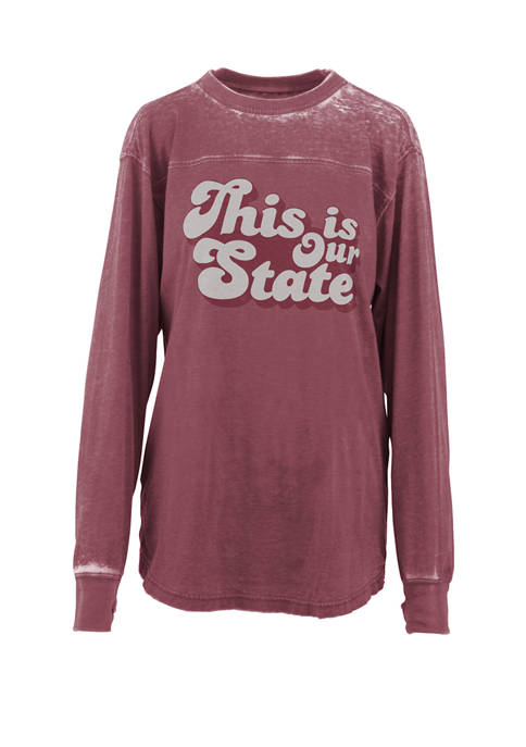Pressbox Womens NCAA Mississippi State Bulldogs Angie Vintage