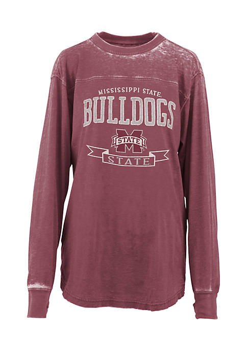 ROYCE Long Sleeve Mississippi State Debbie Piston Oversized