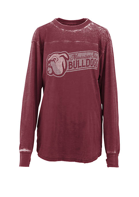Pressbox Mississippi State Bulldogs Vintage Wash T Shirt