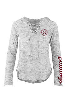 Long Sleeve Mississippi State Kate Lace Neck Hooded Tee