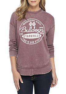 Mississippi State Bulldogs Surfer Stamp High-Low Fleece Sweater
