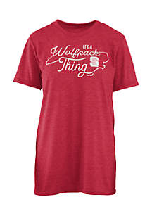 Short Sleeve NC State Its A School Thing Crew Neck Tee