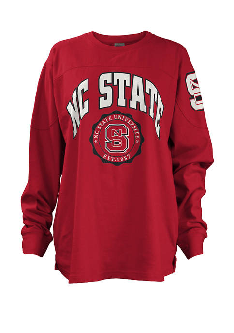 Womens NCAA Long Sleeve Edith Sweeper NC State Wolfpack Graphic T-Shirt