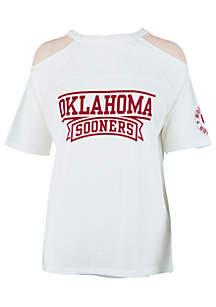 Oklahoma Sooners Norris Cold Shoulder Tee