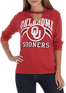 University of Oklahoma Sooners Crew Neck Choker Long Sleeve Tee