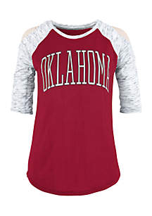 Oklahoma University Sooners Bella Lap Cold Shoulder Tee