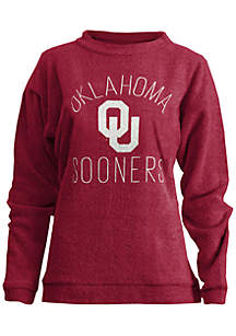 Oklahoma Sooners Thin Arch Mock Neck Twisted Terry Fleece Pullover