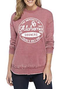 Oklahoma Sooners Surfer Stamp High-Low Fleece Sweater