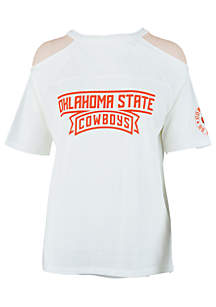 Oklahoma State Cowboys Norris Cold Shoulder Tee