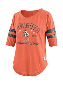 ROYCE Oklahoma State Cowboys Jade Vintage Wash Jersey T Shirt