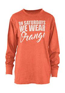 Long Sleeve Oklahoma State University Saturday Colors Melange Crew Tee
